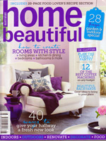 PURE LINEN featured in  Home Beautiful Aug 2012