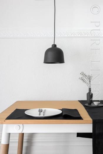 Bistro Napkins Colour Black Size 50x50