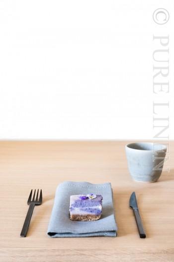 In Style Napkins Single Hem Stitched Colour Opal Grey