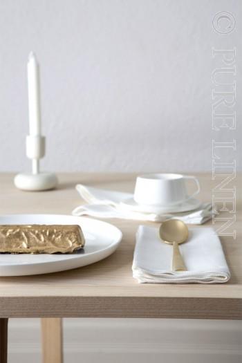 Modern Classic Napkins Herringbone Plain Optical White