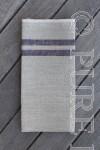 Bertha Napkins Colour Natural Flax & Indigo by PURE LINEN
