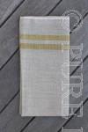 Bertha Napkins Colour Natural Flax & Bronze by PURE LINEN
