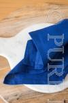 In Style Napkins Single Hem Stitched Colour Cobalt Size 45x45
