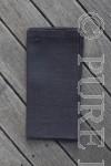 Modern Classic Napkins Single Hem Asphalt by PURE LINEN