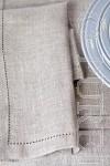 Modern Classic Napkins Herringbone Plain Natural
