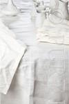 Modern Classic Runner Single Hem Stitched Colour Optical White Size 42x180